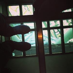 Looking down 350m Tokyo Sky Tree